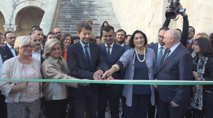 """FRANCESCHINI A BARI: """"apre"""" il Castello Svevo e punta al turismo internazionale"""