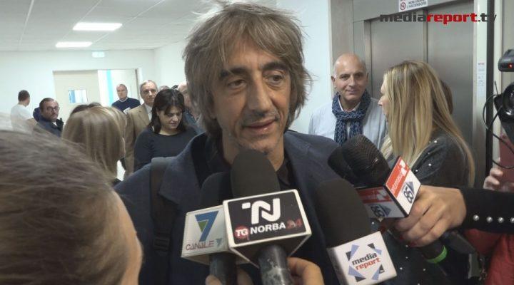 Sergio Rubini inaugura il nuovo reparto dell'Oncologico di Bari