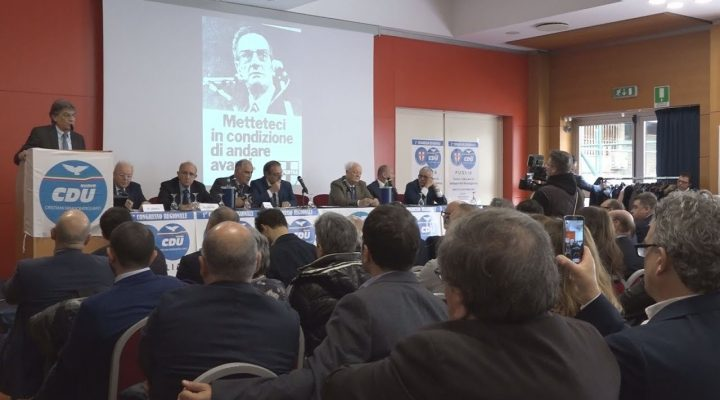 """Lo """"scudocrociato"""" quarta gamba del centrodestra. A Bari 1^ Congresso regionale del Nuovo CDU (cristiani democratici uniti)"""