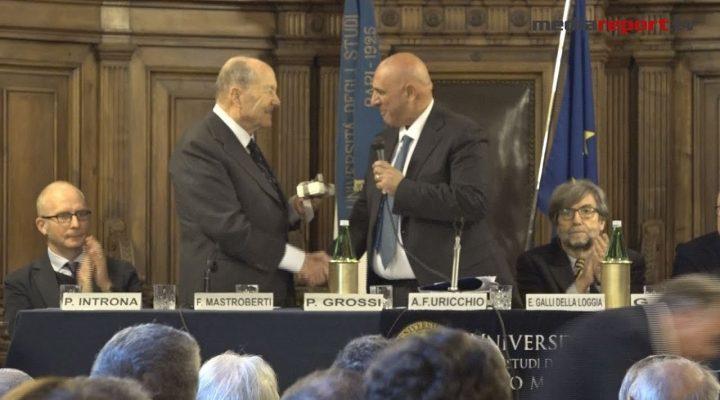 Bari, Uniba: consegnato il Sigillo d'Oro a Paolo Grossi e Ernesto Galli della Loggia