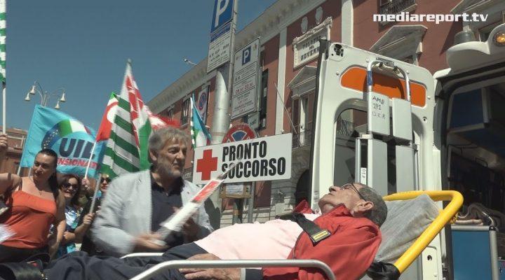 Bari,Cgil Cisl e Uil: flash mob di protesta su Sanità e Welfare regionali al collasso