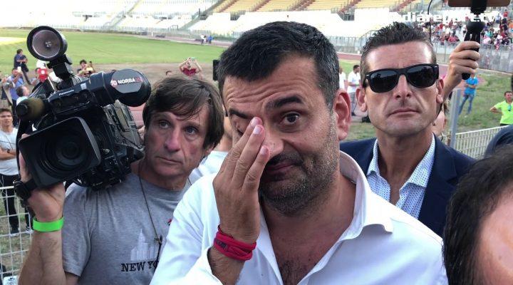 """Decaro in lacrime: """"Il calcio a Bari continuerà per sempre"""""""