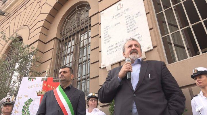 2 Agosto 1980-2018 la strage di Bologna, Bari ricorda le vittime