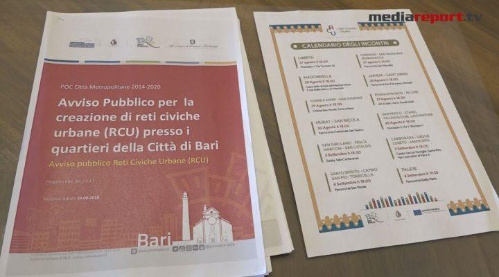 """Comune, al via """"Reti Civiche Urbane"""" il bando socio-culturale per animare i quartieri di Bari"""