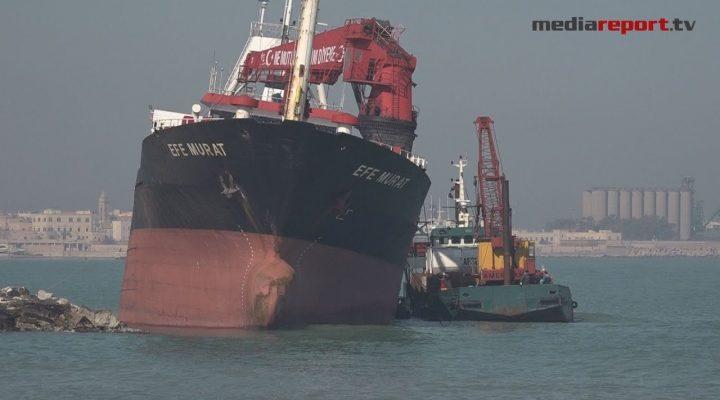 """Bari, Efe Murat iniziati i lavori di pompaggio, ammiraglio Meli: """"Ci vuole tempo"""""""