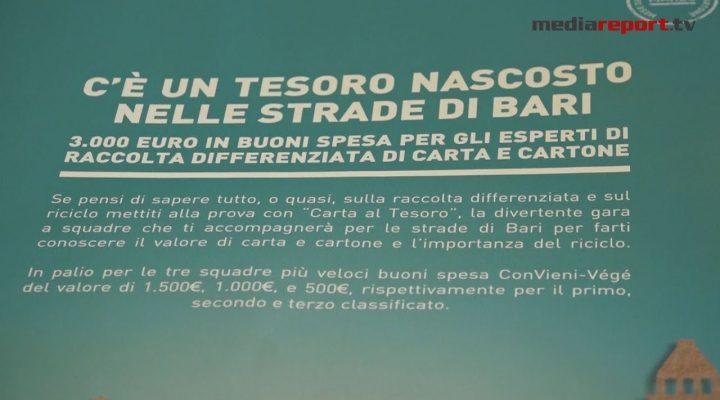"""Differenziata, 3000 euro di buoni spesa per gli esperti di riciclo di carta e cartone: a Bari arriva """"Carta al tesoro""""di Comieco"""