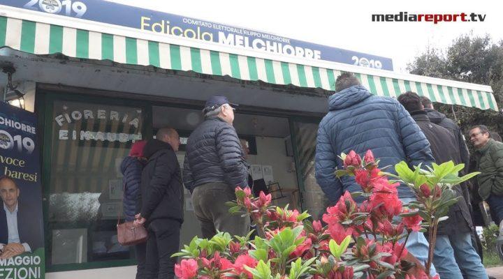 """Filippo Melchiorre inaugura il suo comitato elettorale: un ex chioschetto di fiori diventa """"Edicola Melchiorre"""""""