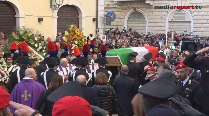A San Severo l'ultimo saluto al maresciallo Vincenzo Di Gennaro ucciso in un agguato a Cagnano Varano