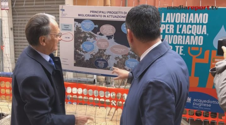 Bari, Comune e Aqp sopralluogo nei cantieri per verificare i lavori in corso in Via Michele De Napoli