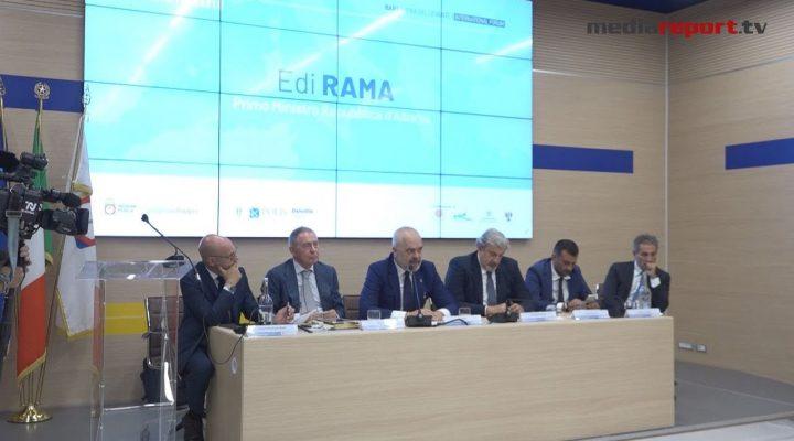 """Bari, il premier Rama in Fiera, investire in Albania: """"Nessuna tassa per 10 anni e Iva al 6%"""""""