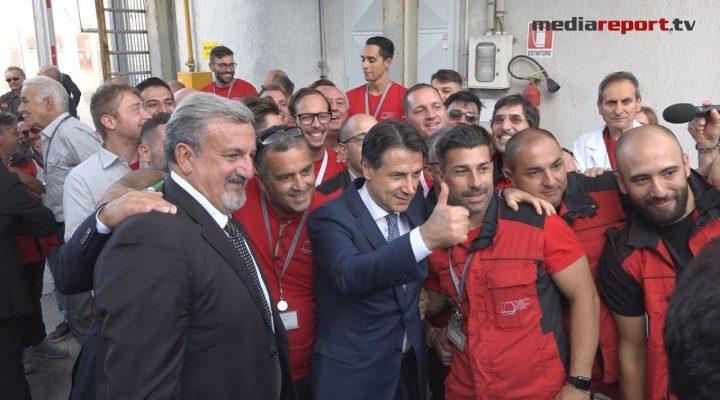 """Foggia, Conte inaugura """"Valoridicarta SpA"""" per la produzione di Carte speciali di sicurezza"""