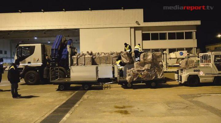 #covid19, arrivate in Puglia 200mila mascherine chirurgiche donate dalla Cina
