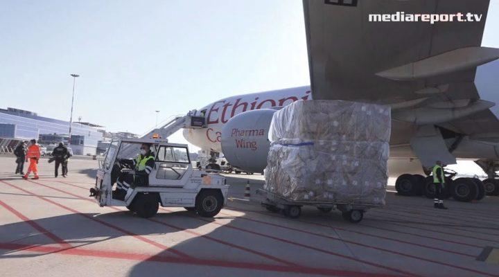 #Coronavirus: arrivato a Bari il primo carico di DPI dalla Cina, acquistato dalla Regione Puglia