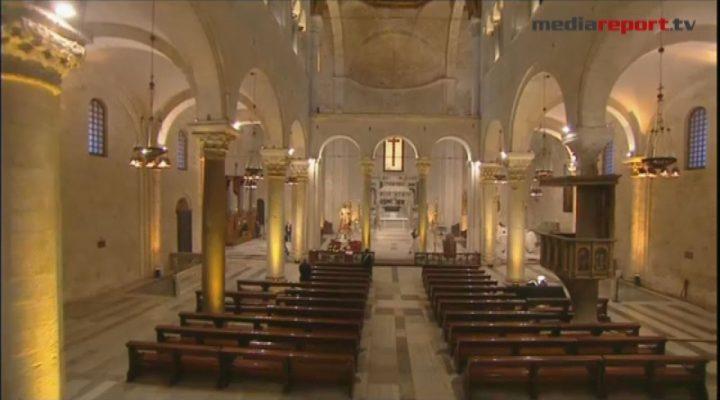 Bari, San Nicola: la Santa Messa celebrata a porte chiuse dal rettore della Basilica pontificia, padre Giovanni Distante