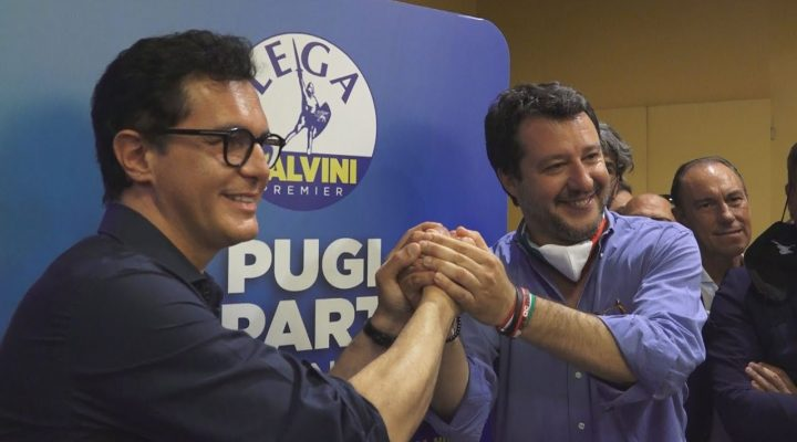 Regionali Puglia 2020, Matteo Salvini presenta a Bari il programma della Lega