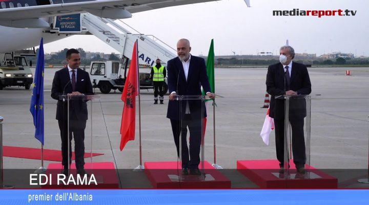 Bari, il premier Edi Rama in Puglia per il trentennale dell'emigrazione albanese